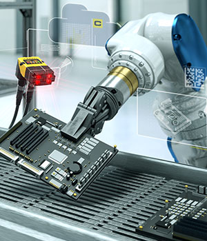 Factory automation cognex machine vision and robot arm