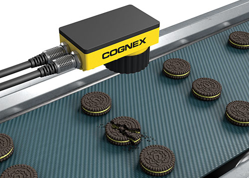 Cognex insight series camera quality inspection cookies conveyor belt