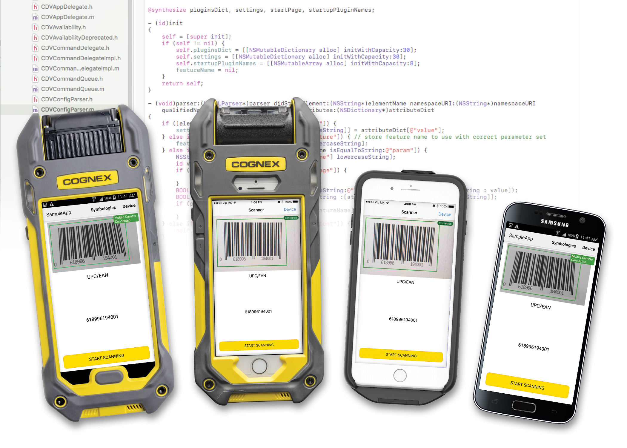 cognex range of mobile computer terminal barcode readers