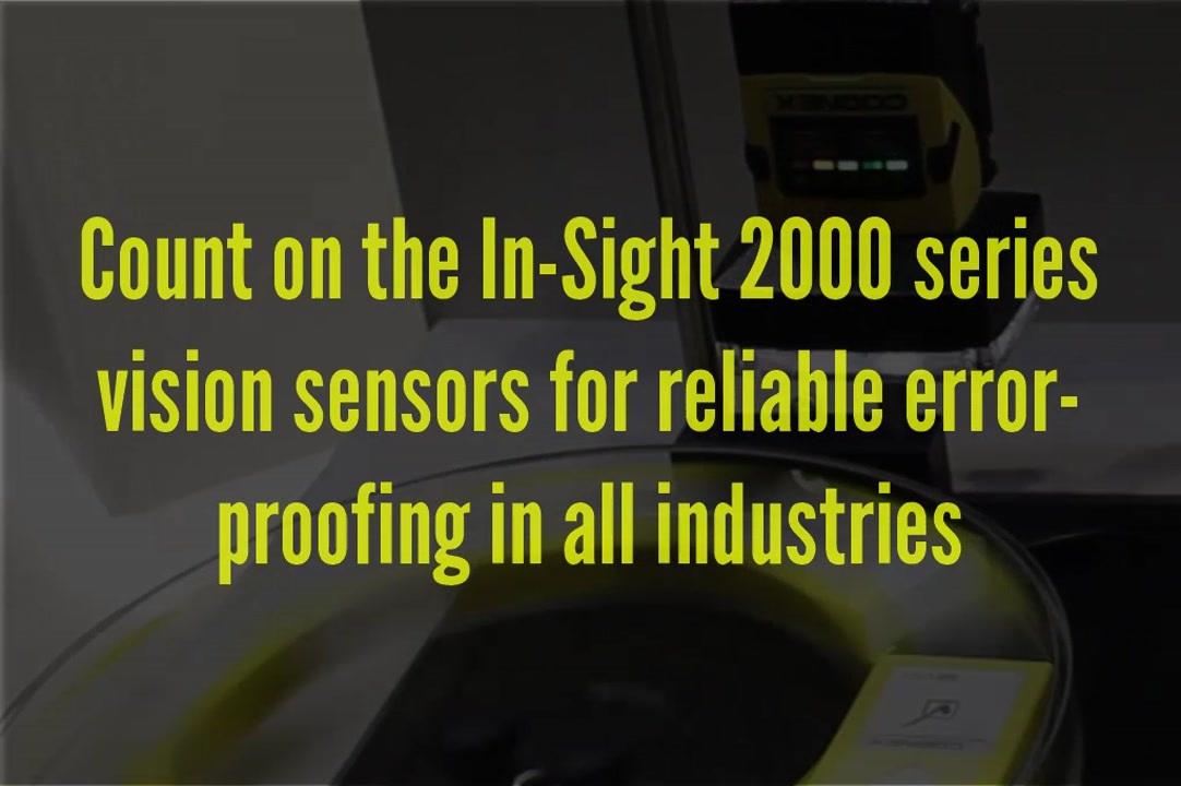 Cognex In-Sight 2000 high-speed inspection