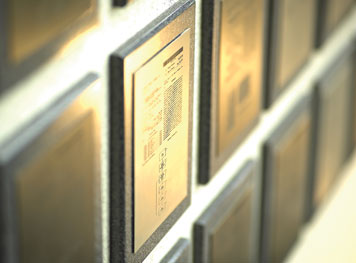 cognex patents on gold wall plaques