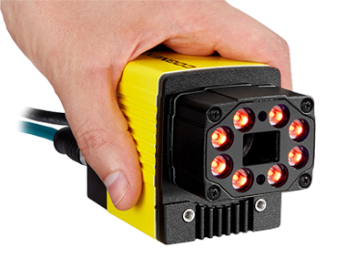 hand holding a Cognex Dataman 470