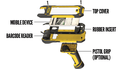 Cognex Dataman barcode reader insert for MX-1000 mobile terminal