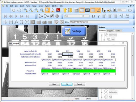 In-Sight Spreadsheet Advanced| Cognex