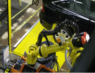 Anon Auto car manufacturing In-Sight robot arm guided inspection