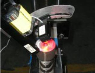 DataMan reader scanning metal parts