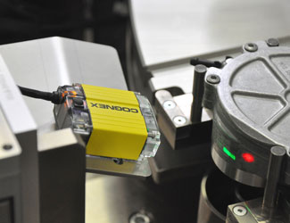 Zeltwanger using cognex dataman 150 inspect metal code