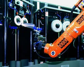 SIR Italy knife sharpening with vision enabled robotic arm