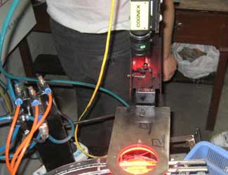 Wuxi Baotong using cognex insight 8000 red light metal inspection