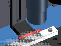 digital rendering of up close needle tip inspection