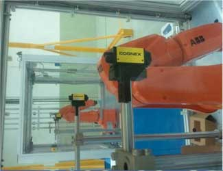 TE Connectivity using cognex insight and roboting arms in manufacturing