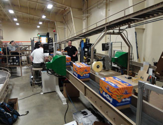 Sun Pacific packaging inspection of oranges