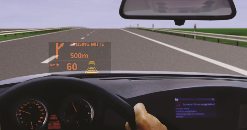 BMW heads up driving digital image