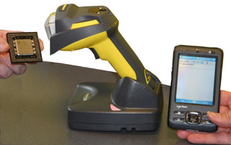Fairfield using cognex handheld barcode reader on phone