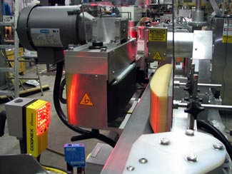 production line inspecting parts with Cognex Checker