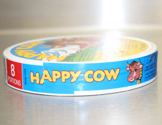 Woerle happy cow cheese label inspection