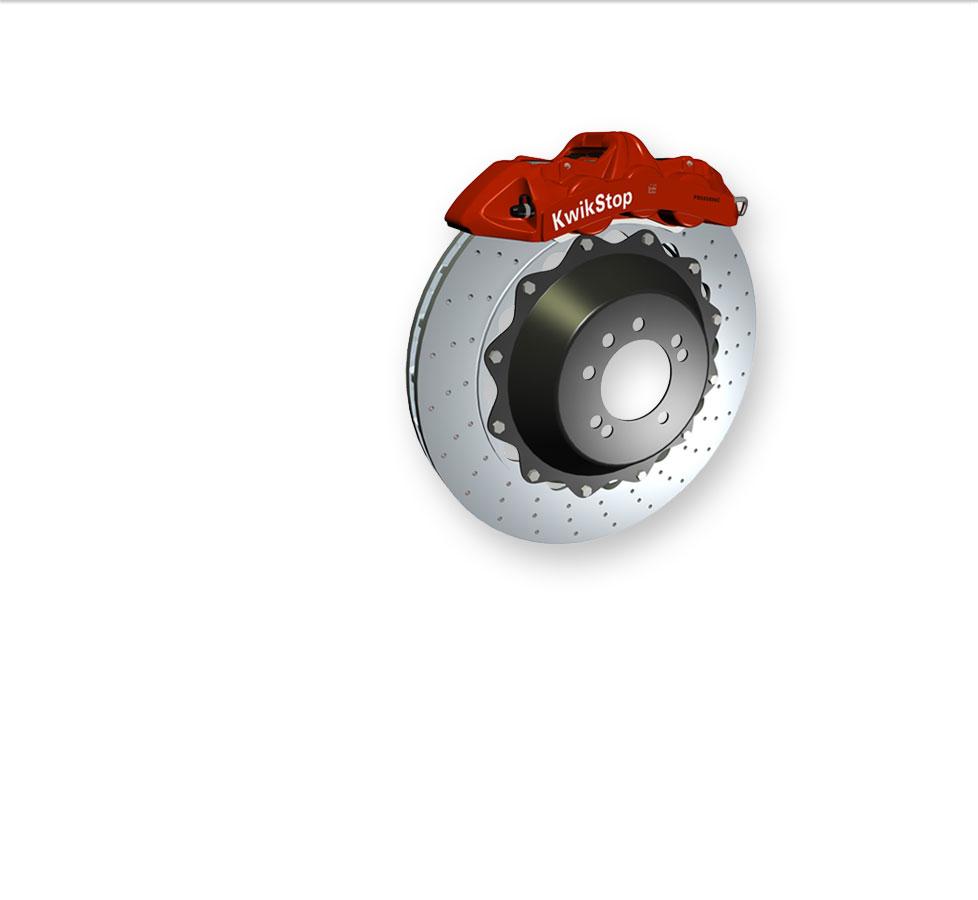 3D digital KwikStop disk brake