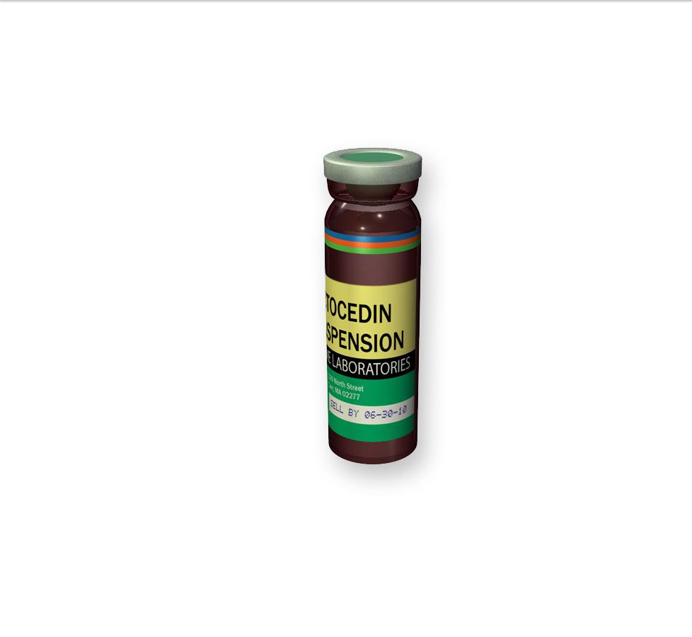 pharmaceutical liquid medication bottle