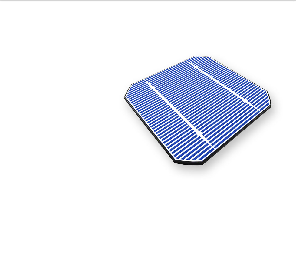 blue solar photovoltaic cell