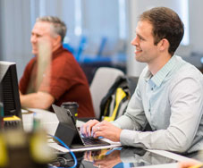 Two Men in Cognex Training Course