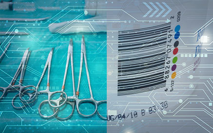 Medical devices, label with barcode