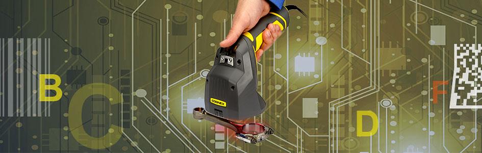 Handheld barcode verifier checks metal part