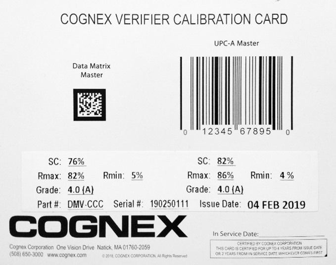 Calibration card
