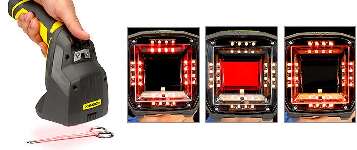 Tipos de iluminación para verificar códigos DPM