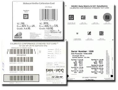 Calibration cards