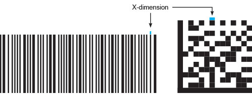 Code size range and x-dimension