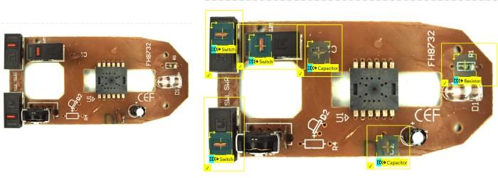 verifica di assemblaggi per il settore dei componenti elettronici