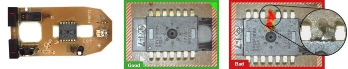rilevamento di difetti per componenti elettronici