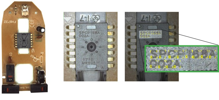 OCR su un circuito stampato