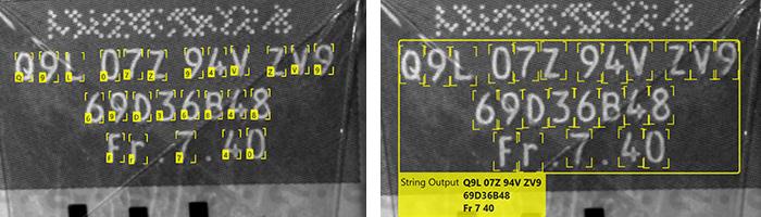 OCR marking inspection