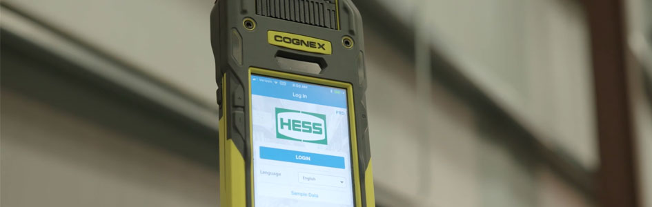 Hess mobile app on cognex mobile terminal