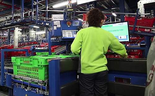 Logistik Point-of-Sales in Verteilzentren - Ocado