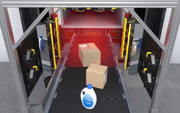 Logistik Point-of-Sales in Verteilzentren - Wareneingangstunnel