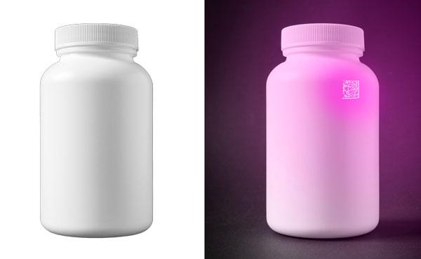 ボトルに印字された UV コード