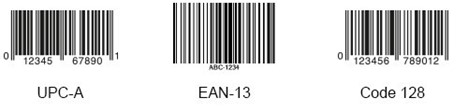 1D barcode examples