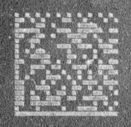 Chemical etched code