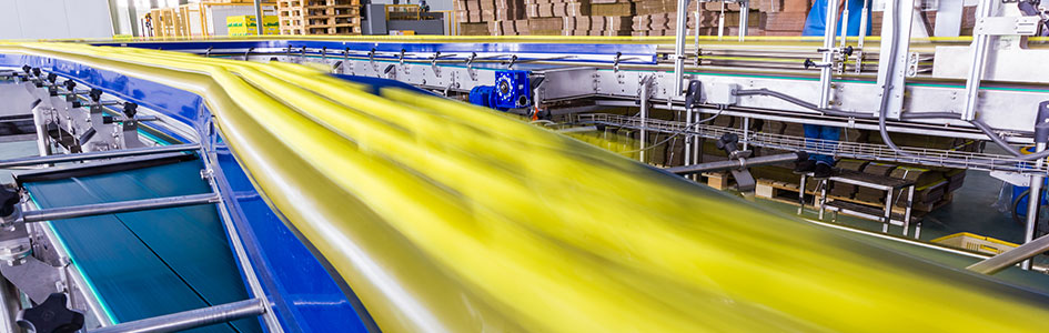 fast-moving product on conveyor belt