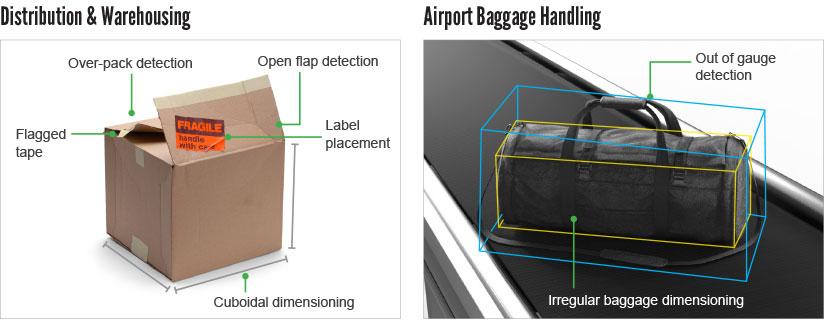 Distribution et manutention des bagages à l'aéroport avec le 3D-A1000