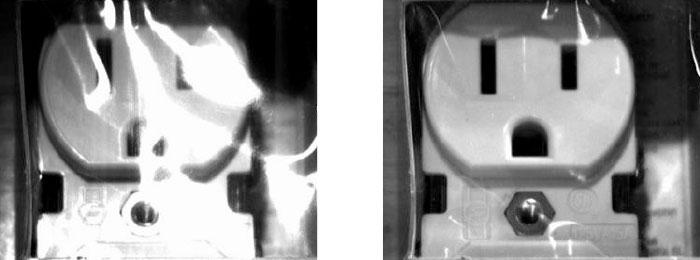 Ein Polarisator verringert Blendeffekte auf Prüfbildern