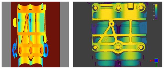 3D tan simple cocomo 2D-Comparación de mapa de calor 2D y mapa 3D