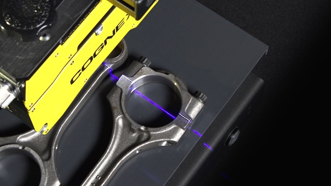 In-Sight 3D-L4000 inspects casted auto component with speckle-free laser line