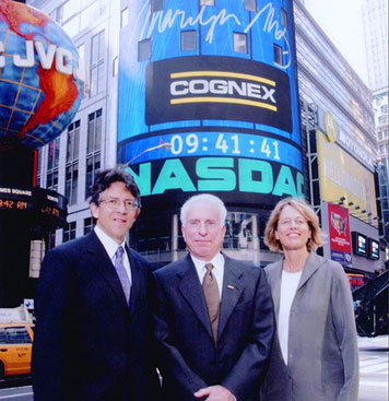 Cognex founders nasdaq tower IPO launch