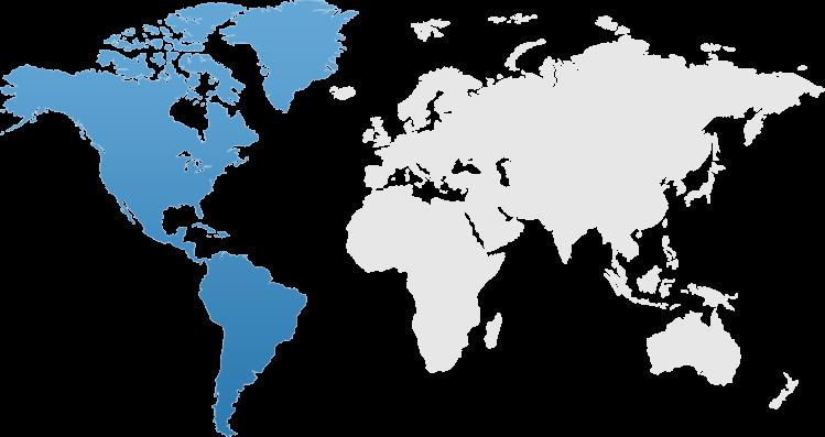 Americas world map
