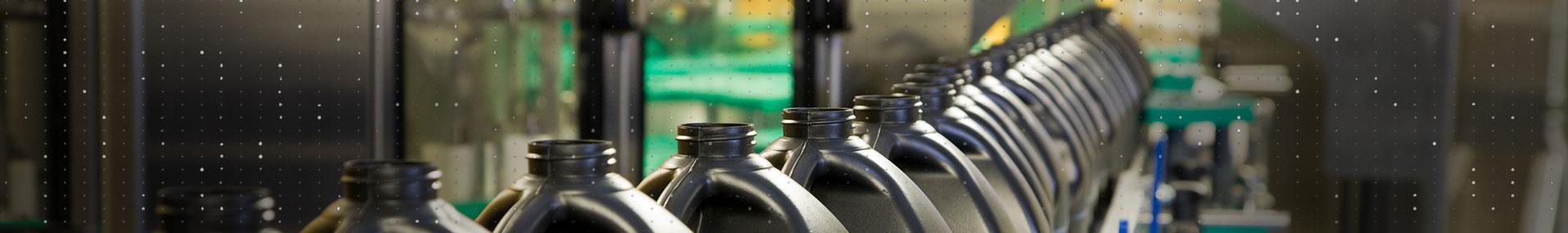 Consumer Product bottles on conveyor belt