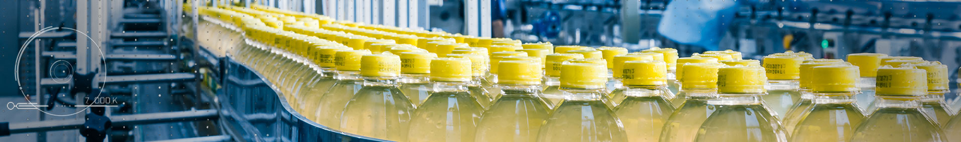 Beverage bottles on conveyor belt