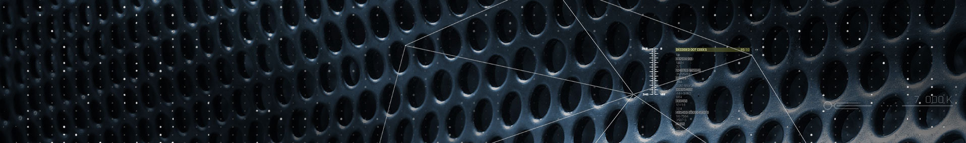 data over perforated circle pattern